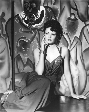 Gene Tierney Stretched Canvas Print