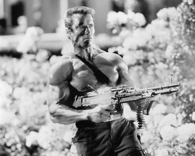 Arnold Schwarzenegger - Commando Stretched Canvas Print