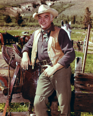 Lorne Greene - Bonanza Stretched Canvas Print