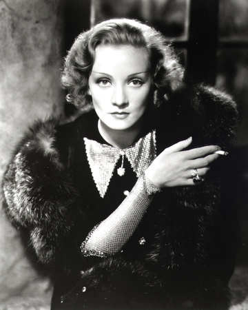 Marlene Dietrich Stretched Canvas Print