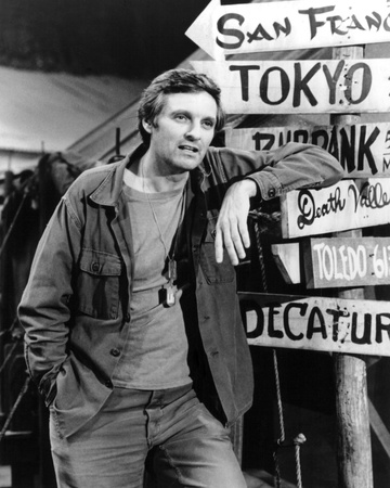 Alan Alda - M*A*S*H Stretched Canvas Print