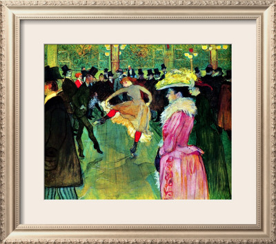 Toulouse Lautrec Moulin Rouge. Dance at Moulin Rouge Framed