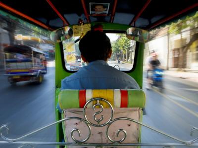 Tuk Tuk Taxi Stretched Canvas Print