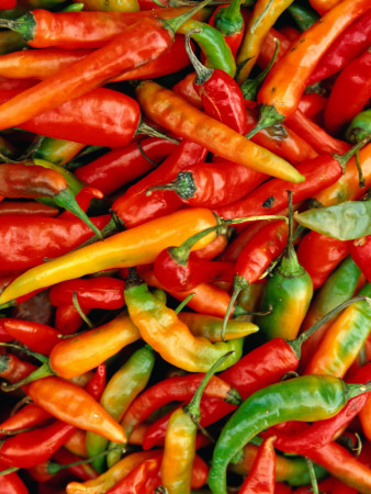 Chillies Stretched Canvas Print