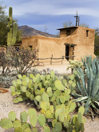 Adobe Mission, Degrazia Gallery in the Sun Stretched Canvas Print