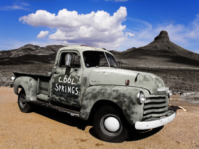 Old Truck at Cool Springs Stretched Canvas Print