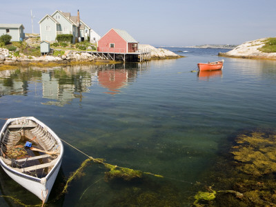 Peggy's Cove Harbour Stretched Canvas Print