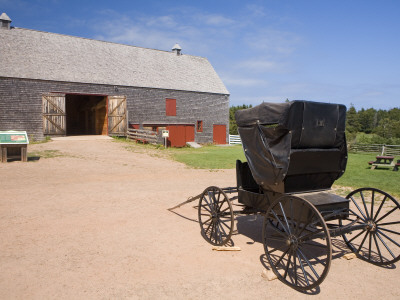 Barn and Carriage at Green Gables House Stretched Canvas Print