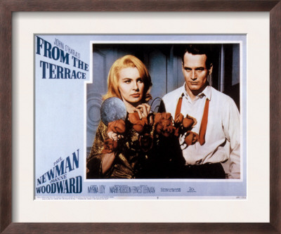 From the Terrace, Joanne Woodward, Paul Newman, 1960 Framed Print