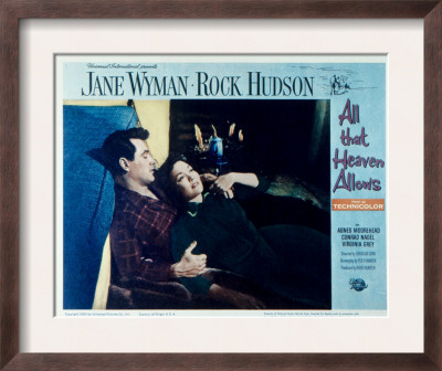 all that heaven allows  rock hudson  jane wyman  1955 framed print