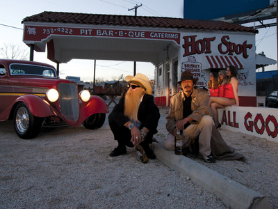 Billy F. Gibbons ZZ Top Car Stretched Canvas Print