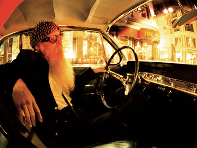 Billy F. Gibbons Custom Guitar Stretched Canvas Print