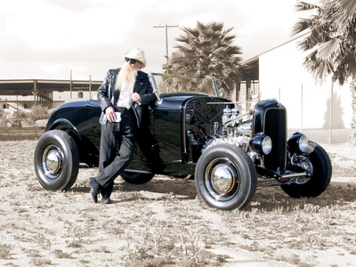 Billy F. Gibbons Hot Rod Stretched Canvas Print