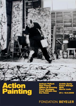 Painting Autumn Rhythm No 30 affiche avec Jackson Pollock