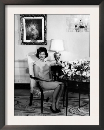 jacqueline kennedy  1960s framed print  zoom  view in room