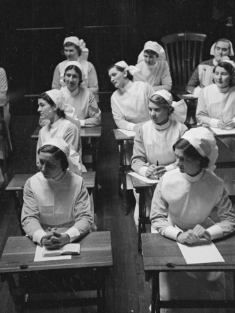 Nurse Class Stretched Canvas Print