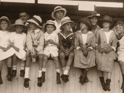 1930 Fashion on Of Children In Their Best Clothes And Hats  1930 S Photographic Print