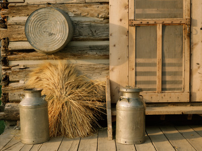 Outside the Kitchen, Ronald V. Jensen Historical Farm, Cache Valley, Utah, USA Stretched Canvas Print