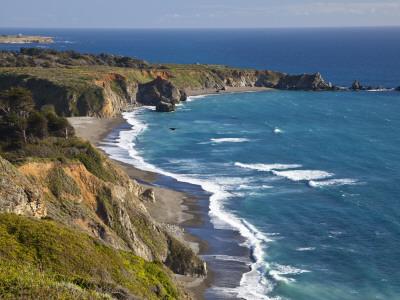 Big Sur Coastline in California, USA Stretched Canvas Print