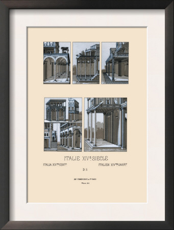 italy  urban architecture of tuscany  1300 1600 framed print