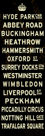 London Crown Sign Stretched Canvas Print