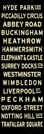 London Sign Stretched Canvas Print
