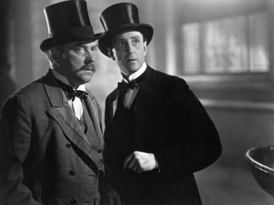 Nigel Bruce and Basil Rathbone: The Hound of The Baskervilles, 1939 Stretched Canvas Print