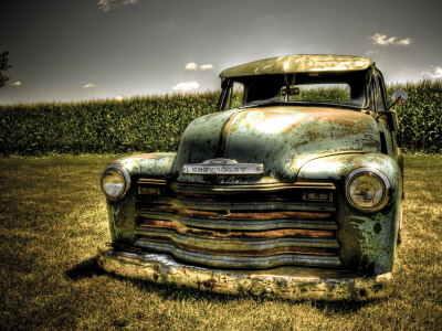 Chevy Truck Stretched Canvas Print