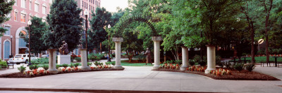 Entrance of a Park, Krutch Park, Knoxville, Knox County, Tennessee, USA Stretched Canvas Print