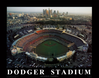 Angeles Dodgers on Dodger Stadium   Los Angeles  California Print By Mike Smith At Art