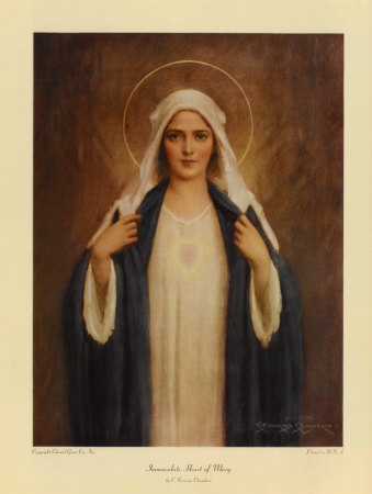 heart images to print. Immaculate Heart of Mary Print