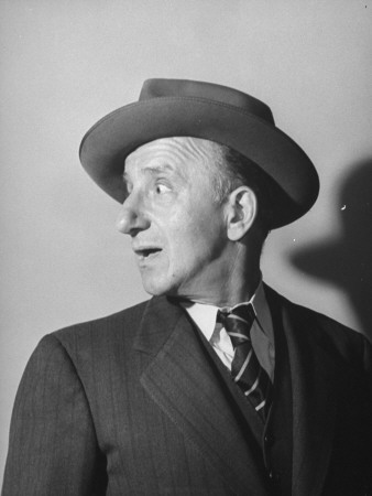 Comedian Jimmy Durante Performing Stretched Canvas Print