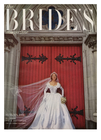 Brides Cover - August, 1951 Stretched Canvas Print