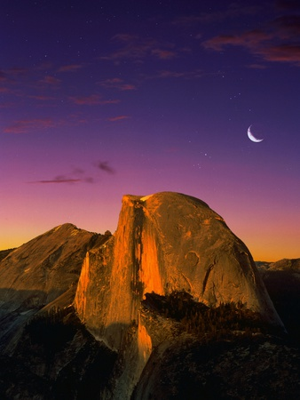 Half Dome at Twilight Stretched Canvas Print