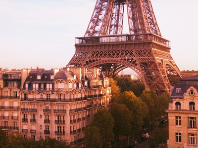 Eiffel Tower Stretched Canvas Print