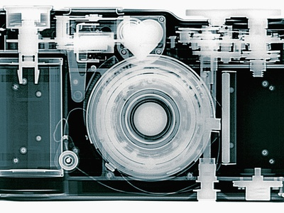 X-ray of Camera Stretched Canvas Print