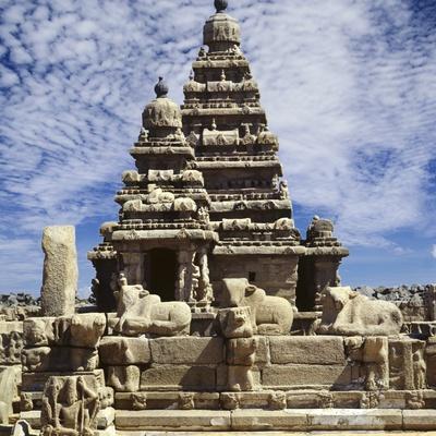 Shore Temple at Mamallapuram in India Stretched Canvas Print