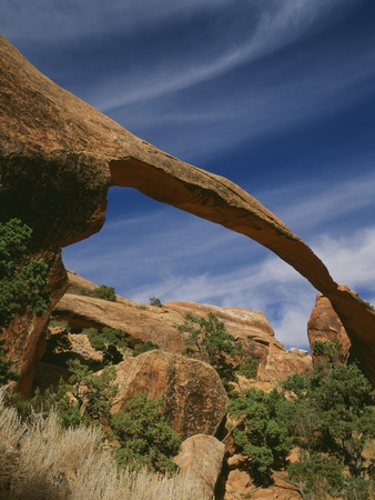 Landscape Arch Stretched Canvas Print