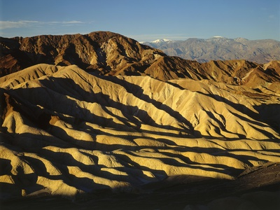 Zabriskie Point, Death Valley Stretched Canvas Print