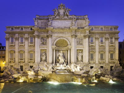 Trevi Fountain in Rome Stretched Canvas Print