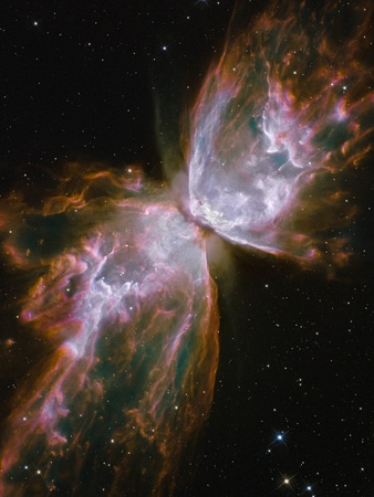 Butterfly shaped Nebula NGC 6302 Stretched Canvas Print