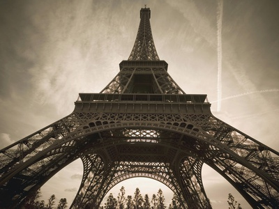 France, Paris, Eiffel Tower Stretched Canvas Print