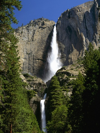 Yosemite Falls Stretched Canvas Print