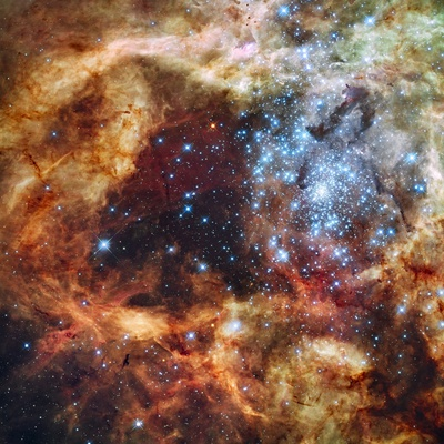 30 Doradus Nebula in the Large Magellanic Cloud Stretched Canvas Print