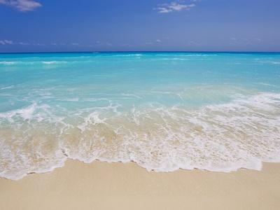 White sand beach in Cancun Stretched Canvas Print