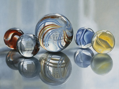 5 Marbles and 465 W. Broadway Stretched Canvas Print