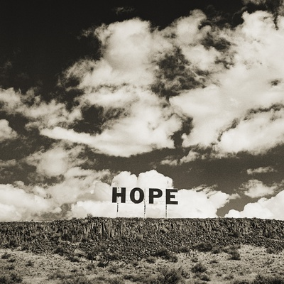 Hope Sign Stretched Canvas Print