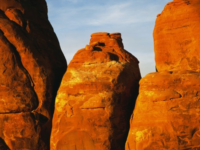 Devils Garden Sandstone Monuments Stretched Canvas Print