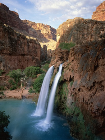 Havasu Falls Stretched Canvas Print