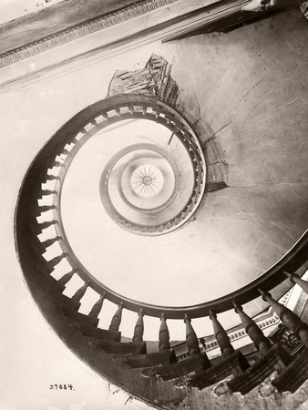 St. Louis Hotel's Winding Staircase Stretched Canvas Print